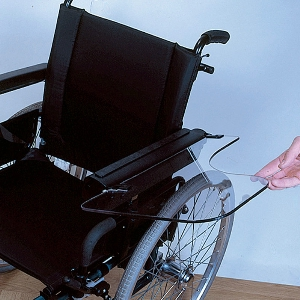 Demi-tablettes universelles pour fauteuil roulant
