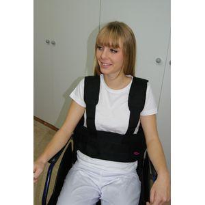 Ceinture abdominale à bretelles pour fauteuil roulant