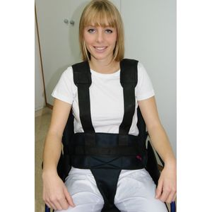 Ceinture pelvienne à bretelles pour fauteuil roulant