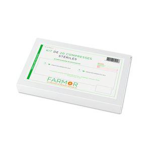 Kit 20 compresses de gaze stériles panachées