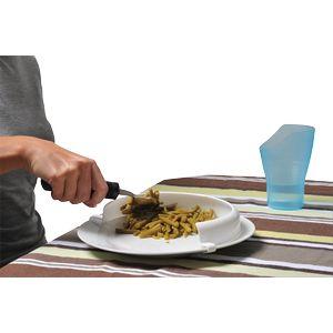 Rebord d'assiette incurvé