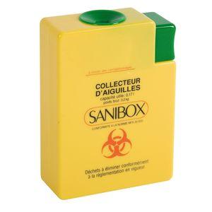 Récupérateur d'aiguilles Sanibox