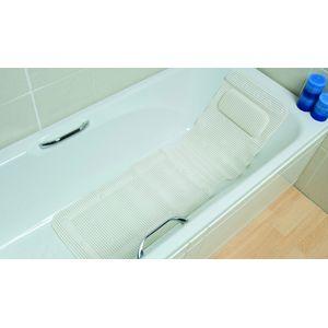 Tapis de bain avec dossier